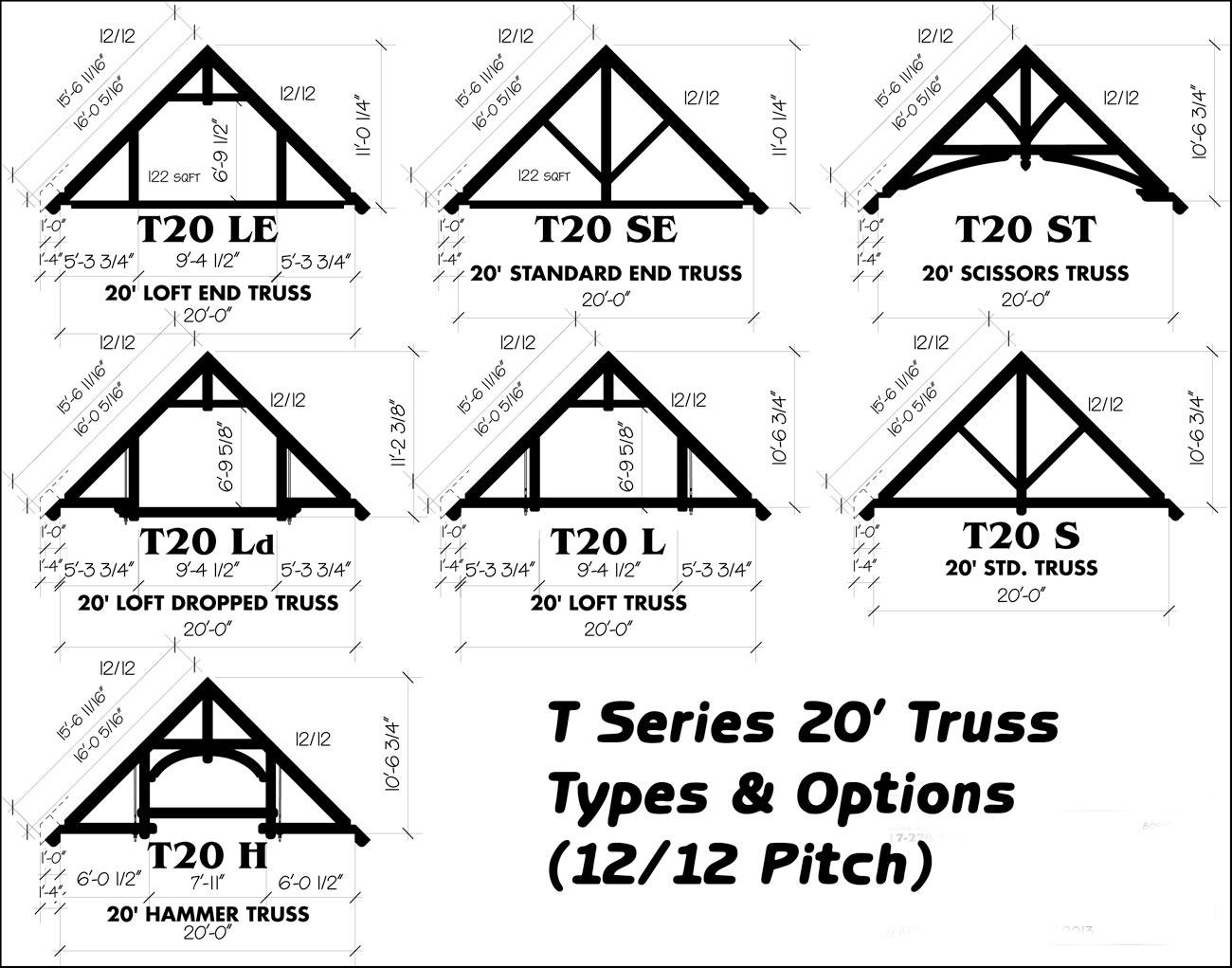 Ozark Timber Frame Standard Truss Options